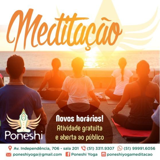 meditação cartaz foto grupo