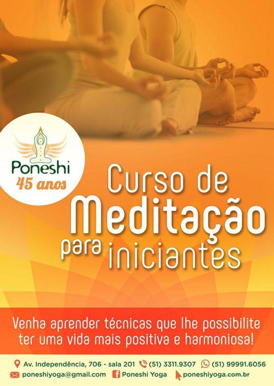 meditação curso