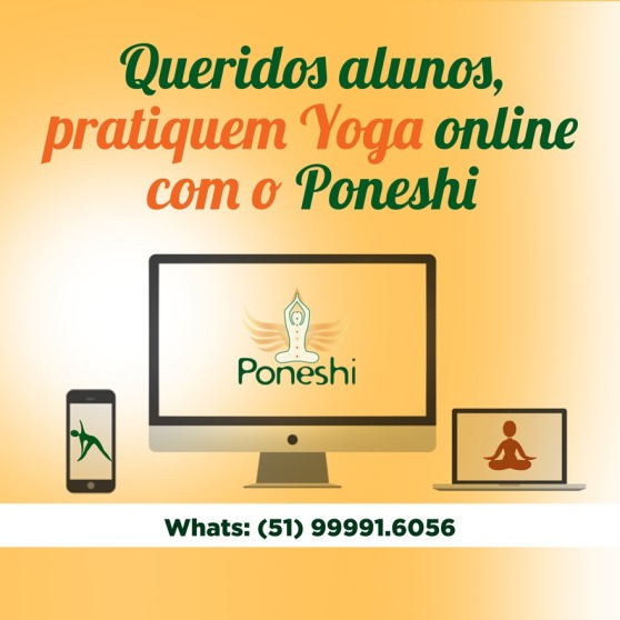 cartaz yoga on line